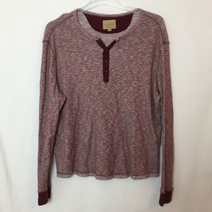 EUC Lucky Brand plus size heathered red Henley